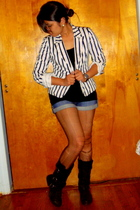 Forever 21 blazer - Terranova - People are People shorts - wild diva