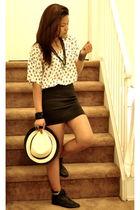 white Forever 21 top - black H&M skirt - black Forever 21 shoes - white Forevr 2