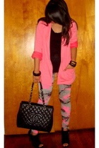 Debenhams blazer - Forever 21 shirt - Debenhams leggings - Chanel - Charlotte Ru