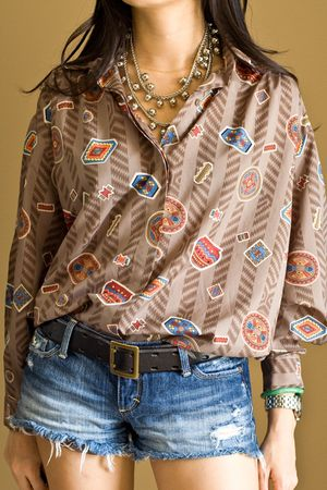 brown Diane Von Furstenberg blouse