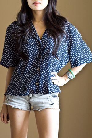 blue Chaus blouse