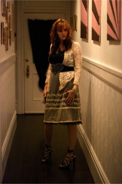 Betsy Johnson belt - vintage dress - Gunne Sax shirt - Jessica Simpson shoes