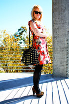 cheetah  studs sam edelman shoes - Kristin Hassan dress - shop mamie bag - Marc