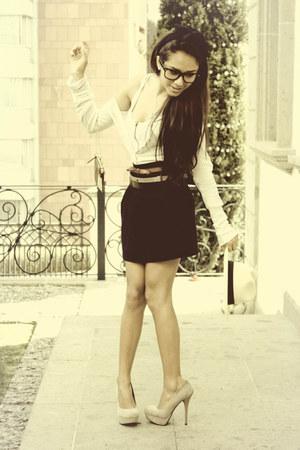 Zara skirt - Steve Madden heels - Zara belt - Massimo Dutti belt