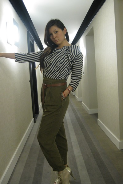 Zara shirt - Zara pants - stuart weitzman shoes