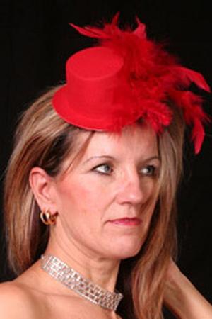 red Lady Ks hat