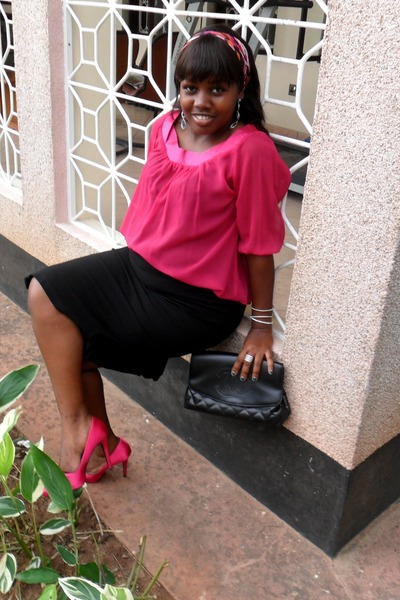 Hot Pink Purse Hot Pink Bow Newlook Heels