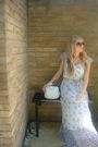 Blue-zara-dress-white-primark-purse