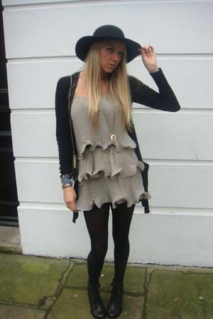 H&M dress - Primark cardigan - asos boots