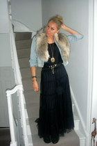 f21 skirt - f21 top - old mark one jacket