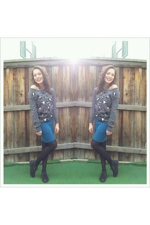turquoise blue Forever21 skirt