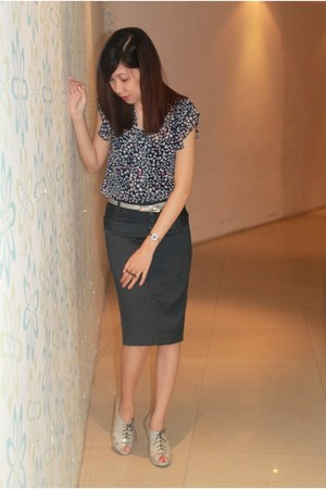 blue ANAP blouse - navy People are People skirt