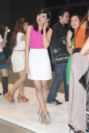 bubble gum Zara dress - from hongkong heels