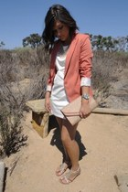 salmon Forever 21 blazer - white Forever 21 dress