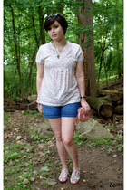off white Cooperative shoes - pink purse - navy shorts - brown H&M sunglasses -