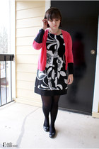hot pink Gap sweater - black wishes wishes wishes dress