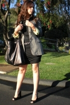 gray Moschino blazer - black Forever 21 dress