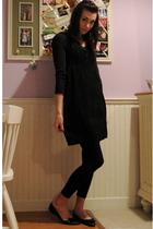 black Ragstock shirt - black Divided- H&M dress - black H&M leggings - black Urb