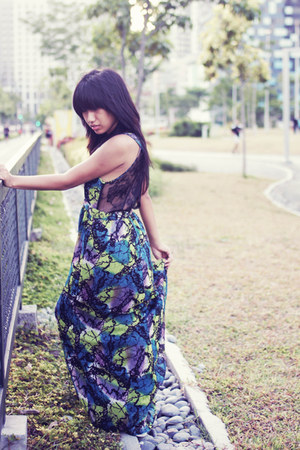 dark green H&M dress