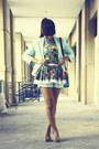 Turquoise-blue-h-m-blazer-turquoise-blue-satchel-indie-go-bag