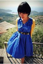 blue H&M garden collection dress
