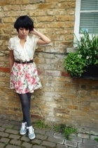 vintage skirt - Primark blouse - vintage belt - H&M shoes