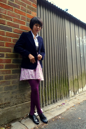 vintage blazer - vintage skirt - Topshop shoes
