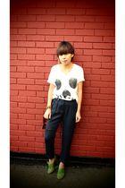 white Threadless Select shirt - green Joy shoes - gray Topshop pants