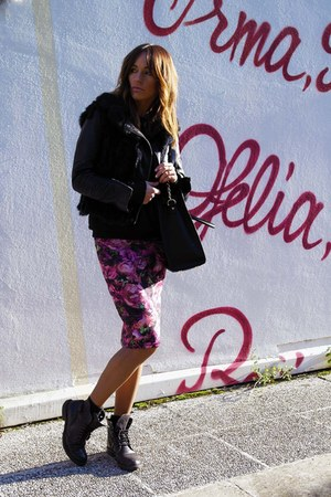 Top Shop skirt - fur Elisabetta Franchi jacket