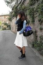 cotton soft Nanushka skirt - leather Celine bag - leather Wood Wood wedges