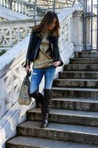 Elisabetta Franchi jacket - maison martin margiela boots - Zara jeans