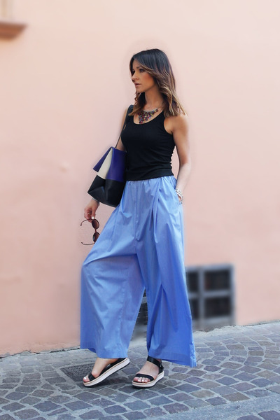 cotton Starstyling pants - leather DV wedges