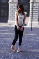H&M top - Louis Vuitton bag - Zara pants - Valentino heels - Michael Kors watch