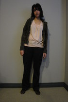 olive green velour Buffalo David Bitton jacket - dark gray Mario Serrati pants -