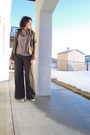 Dark-khaki-velour-buffalo-jacket-gray-talullah-pants-periwinkle-peppermint-t