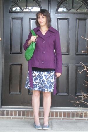 vero mode coat - Tommy Hilfiger sweater - purse - H&M dress - Keds shoes