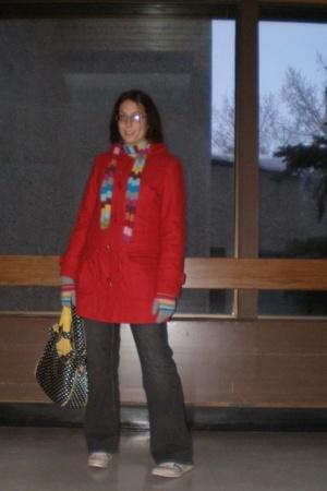 H & M coat - Bluenotes jeans - Maggi B purse - adidas shoes - joe fresh style gl