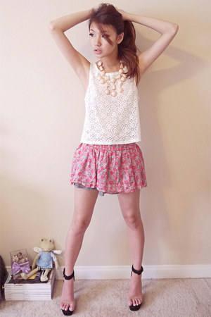 Forever 21 top - Jeffrey Campbell heels - Zara skirt - H&amp;M necklace - YSL ring