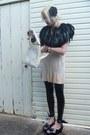 Black-feather-cape-forever-21-jacket-black-stretch-pvc-black-milk-leggings-i