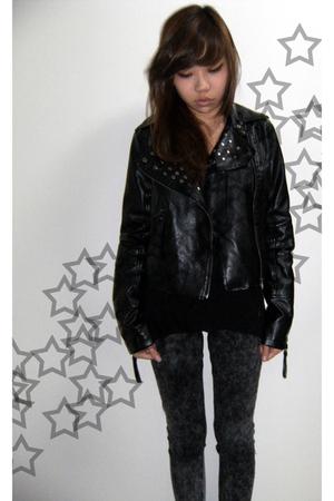 black jacket - gray Dress Like Me leggings