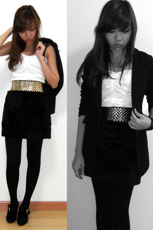 black Dress Like Me dress - white Dress Like Me dress - gold Dress Like Me belt