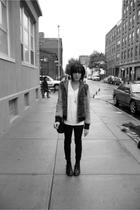 miss sixty leopard print hoodiehoodie - hanes vneck - tripp jeans - doc martens