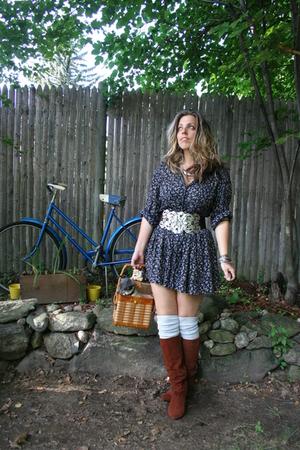 dress - pucci belt - vintage boots -