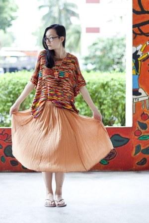 light pink chiffon Forever 21 skirt