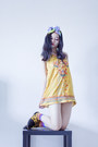 Yellow-embroidered-forever-21-dress-light-blue-rv-designs-scarf
