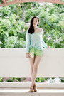 Lime-green-denim-cutoff-forever-21-shorts-ivory-old-navy-top