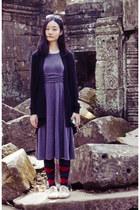off white lace-ups rubi shoes - heather gray pleated k petit dress
