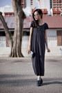 Navy-maxi-dress-forever-21-dress-black-lips-sephora-purse