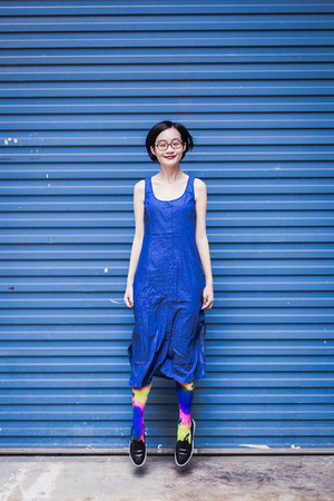 blue midi Zalora dress - black black Zalora shoes