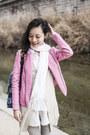 Bubble-gum-leather-jacket-viparo-jacket-white-sheer-mphosis-shirt
